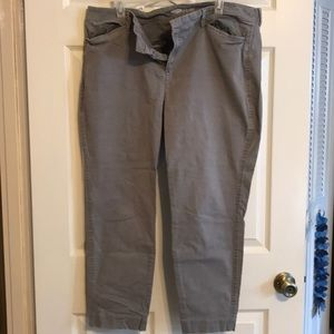 Grey Old Navy pixie pants